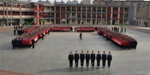 石家庄裕华求实中学举行中考百日誓师活动